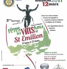 Course Fête les vins kms de Saint-Emilion