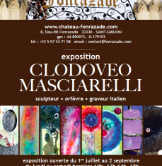 Exhibition of work by Clodoveo Masciarelli at the Château Fonrazade